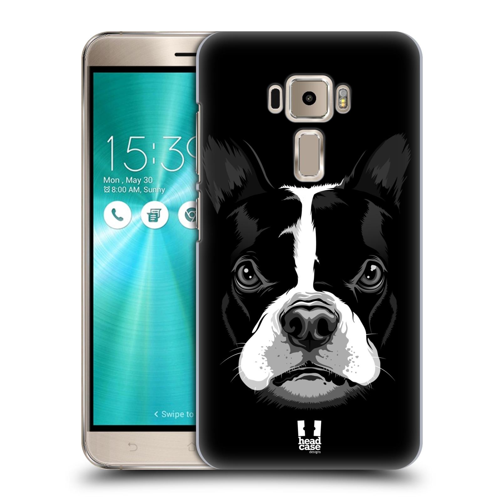 Plastové pouzdro na mobil Asus ZenFone 3 ZE520KL HEAD CASE ILUSTROVANÝ BULDOČEK