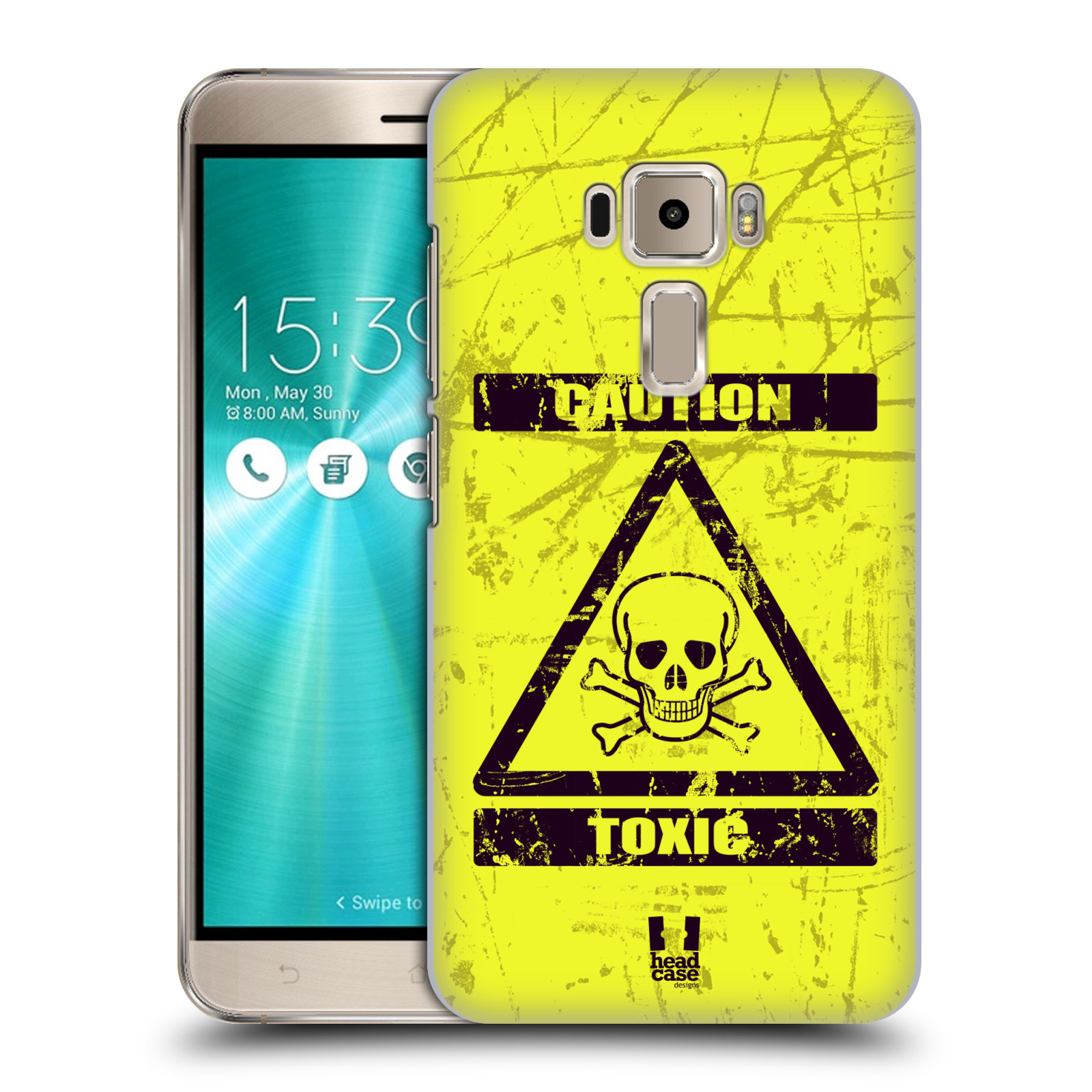 Plastové pouzdro na mobil Asus ZenFone 3 ZE520KL HEAD CASE TOXIC