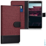 Luxusní flip pouzdro KWmobile Canvas Wallet na Xiaomi Redmi Note 4 Global red