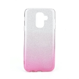 Třpytivé pouzdro Forcell Shining na mobil Samsung Galaxy A6 Plus Pink Silver