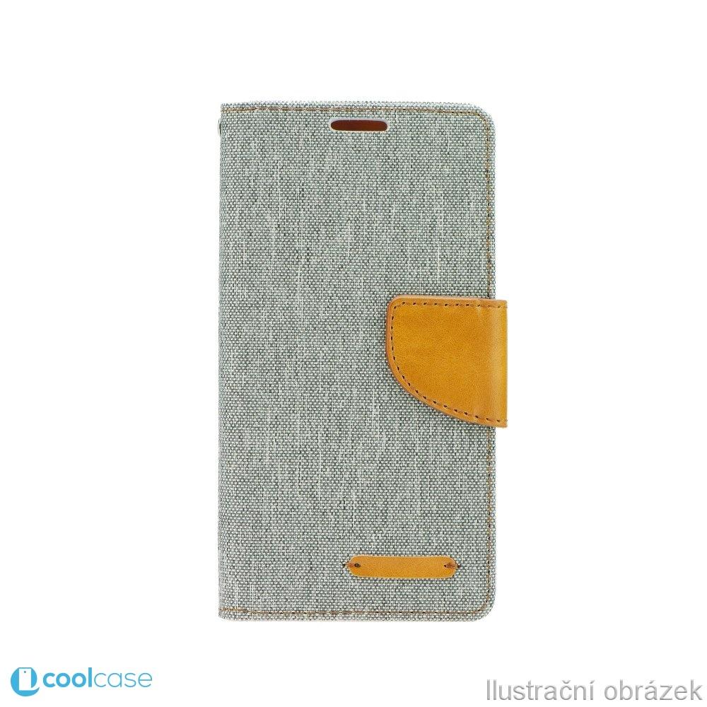 Luxusní flipové pouzdro Canvas Book pro LG G3 ŠEDÉ (Flipové knížkové vyklápěcí pouzdro na mobilní telefon LG G3)