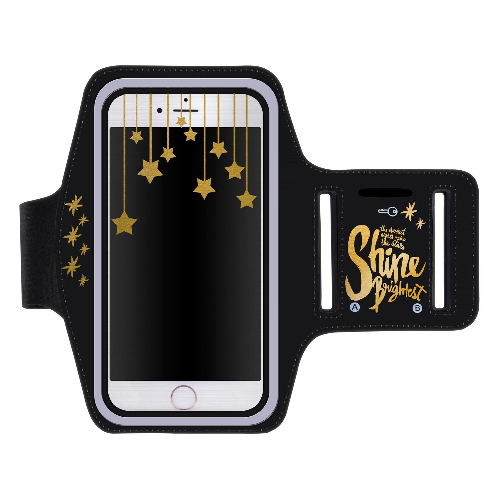 """Sportovní pouzdro na ruku SHINE pro mobily do 5,1"""" iPhone 6 / S7 ČERNÉ (Pouzdro na běhání pro mobilní telefony do 5,1 palců)"""