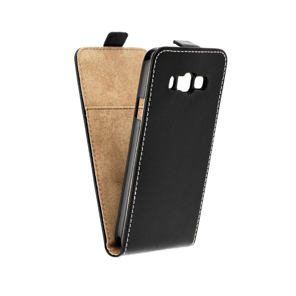Vertikální flipové pouzdro FLEXI FRESH pro Samsung Galaxy XCOVER 3 Černé (Flipové vertikální vyklápěcí pouzdro na mobilní telefon Samsung Galaxy XCOVER 3)