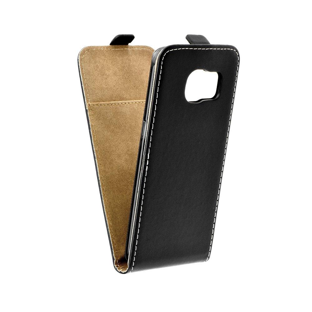 Vertikální flipové pouzdro FLEXI FRESH pro Samsung Galaxy S6 EDGE Černé (Flipové vertikální vyklápěcí pouzdro na mobilní telefon Samsung Galaxy S6 EDGE)