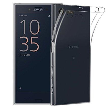 Silikonové pouzdro Ultra Thin 0,5 mm na mobil Sony Xperia X Compact čiré (Silikonový kryt či obal na mobilní telefon v průhledném provedení Sony Xperia X Compact)