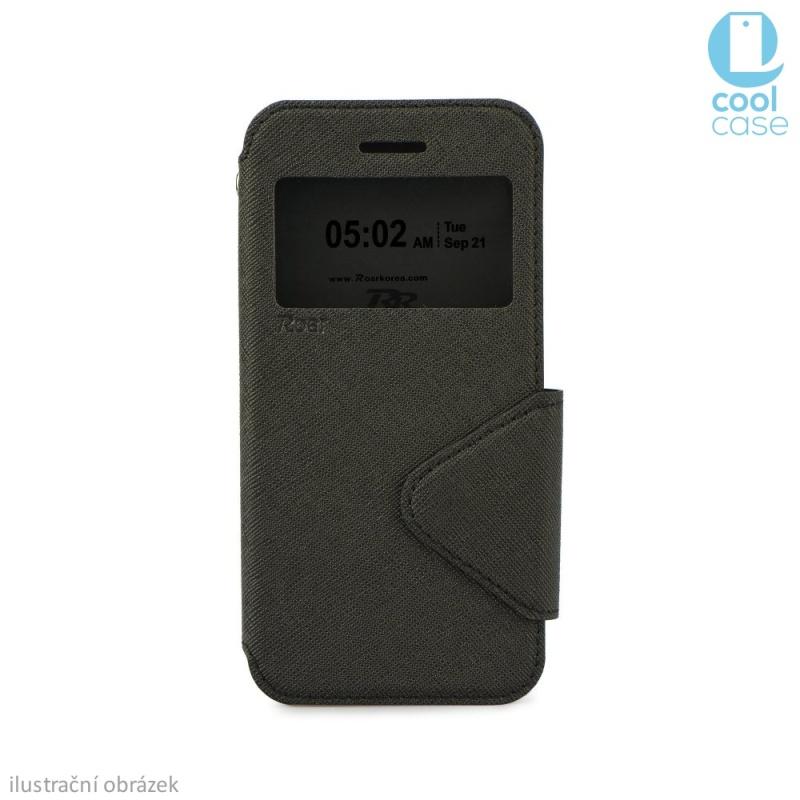 Flipové pouzdro s okénkem ROAR VIEW na mobil Samsung Galaxy Grand Prime Černé (Flip knížkový kryt či obal na mobil Samsung Galaxy Grand Prime s okénkem)
