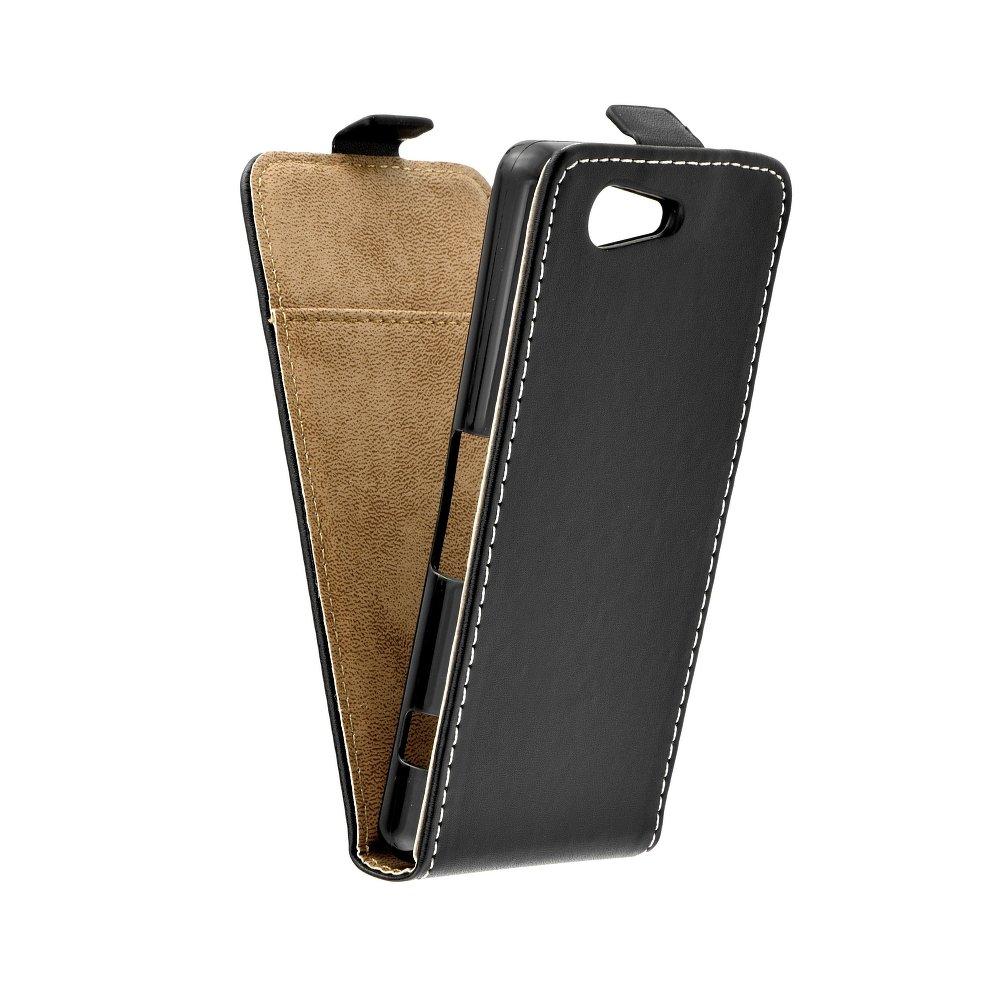 Vertikální flipové pouzdro FLEXI FRESH pro Sony Xperia Z1 Compact Černé (Flipové vertikální vyklápěcí pouzdro na mobilní telefon Sony Xperia Z1 Compact)