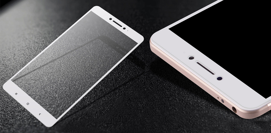 Ochranné tvrzené sklo 2.5D pro Xiaomi Mi Max Bílé (Ochranné tvrzené temperované sklo na displej)