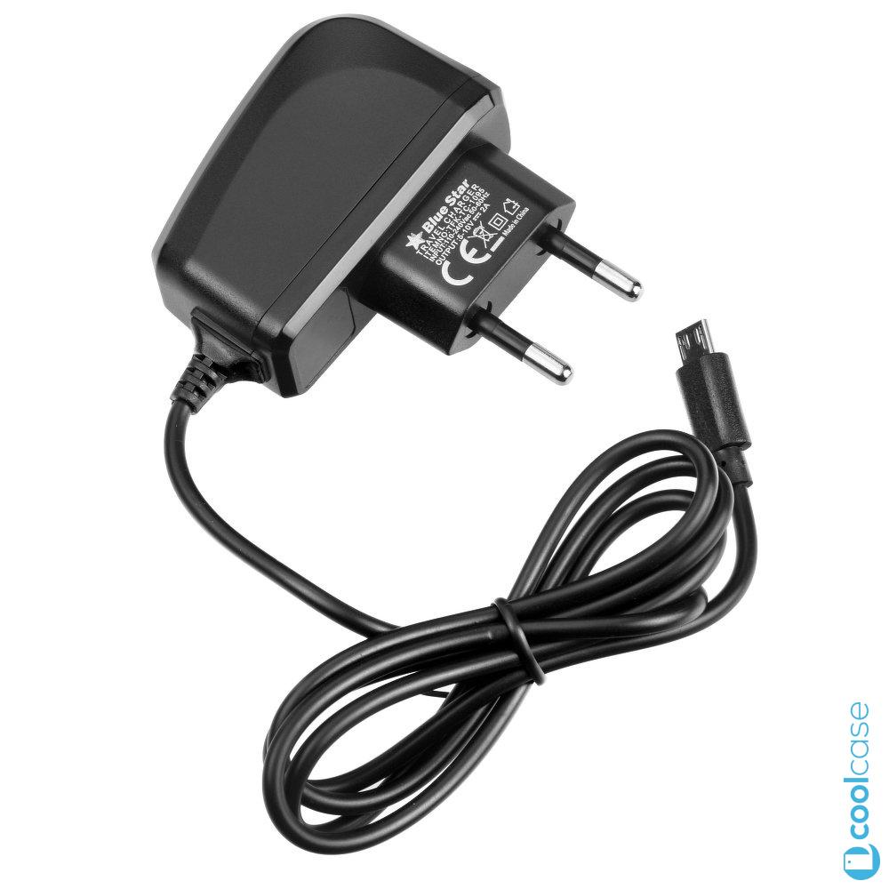 Cestovní nabíječka do sítě Blue Star Lite s konektorem Micro USB 1A (Cestovní síťový dobíječ Blue Star Lite - Travel charger universal s výstupním proudem 1A)