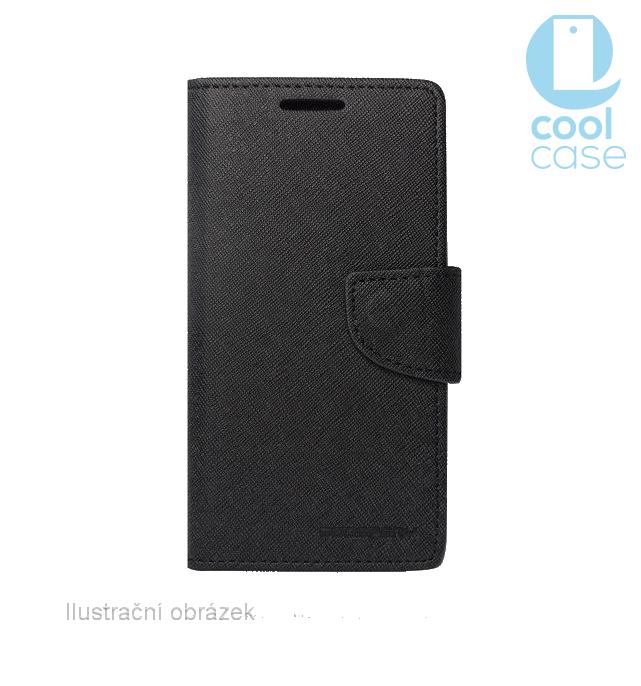 Flipové pouzdro FANCY BOOK na mobil HTC U11 Černé (Flipové knížkové vyklápěcí pouzdro na mobilní telefon HTC U11 v černé barvě)