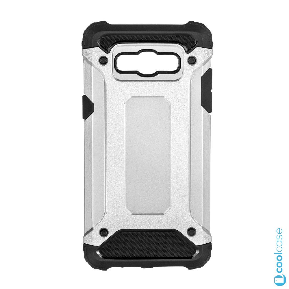Odolné pouzdro Forcell Armor na mobil Samsung Galaxy J3 (2016) Stříbrné (Odolný kryt či obal Forcell Armor na mobil Samsung Galaxy J3 (2016) ve Stříbrné barvě)