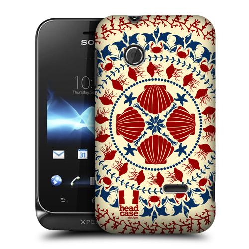 Pouzdro na mobil Sony Xperia Tipo ST21i HEAD CASE MUŠLIČKY (Kryt či obal na mobilní telefon Sony Xperia Tipo )