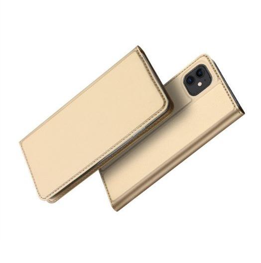 Prémiové flipové pouzdro DUX DUCIS SKIN na Apple iPhone 11 Zlatavé