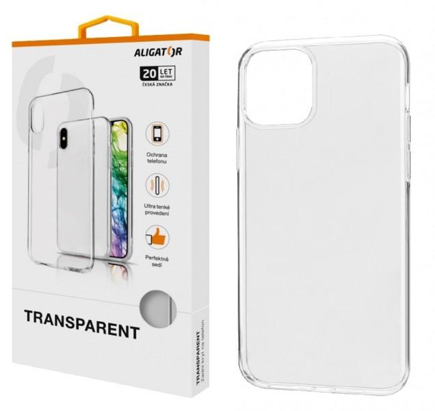 Čiré silikonové pouzdro TRANSPARENT ALIGATOR na mobil Apple iPhone 11