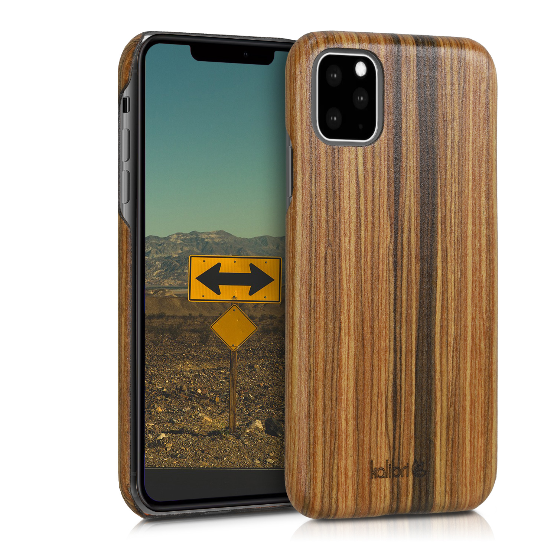 Bambusové pouzdro KWmobile na mobil Apple iPhone 11