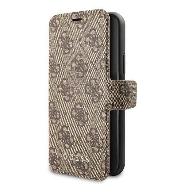 Originální flip pouzdro Guess na mobil Apple iPhone 11 hnědé - luxusní obal (GUFLBKSN614GB)
