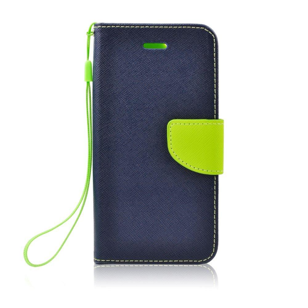 Flipové pouzdro FANCY BOOK na mobil Samsung Galaxy Note 10 Plus Modré (Flip kryt či obal na mobil Samsung Galaxy Note 10+ Modrý)
