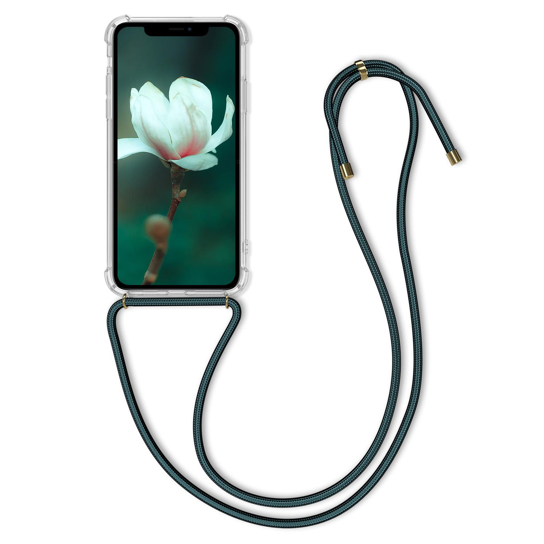 Pevné silikonové pouzdro kwmobile Crossbody na mobil Apple iPhone 11 čiré s popruhem