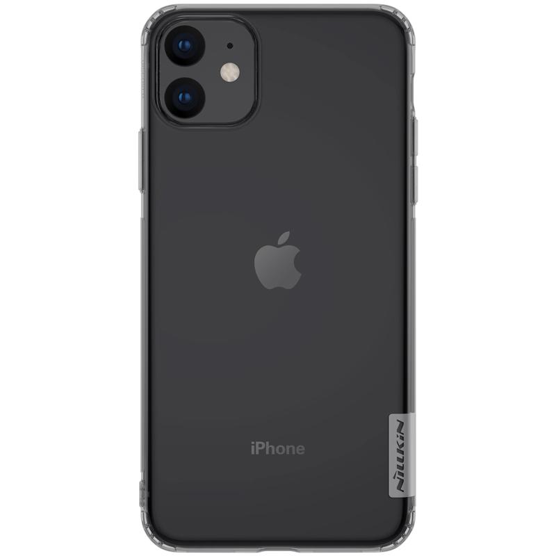 Silikonové pouzdro Nillkin Nature 0,6 mm na mobil Apple iPhone 11 tmavé