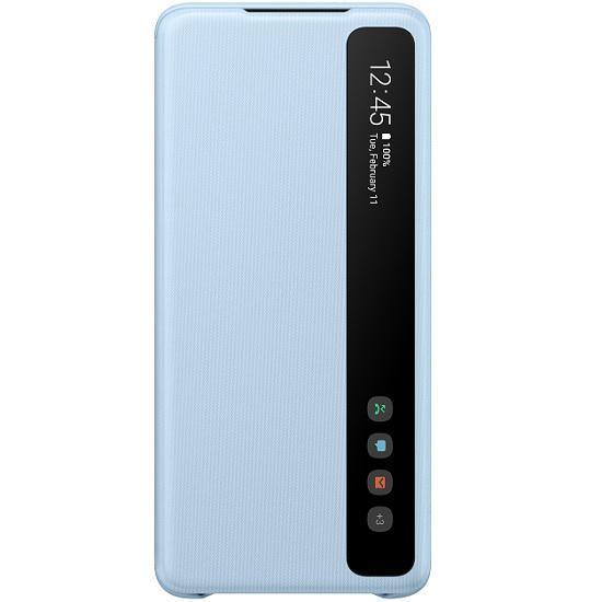 Originální flipové pouzdro EF-ZG985CLE Samsung S-View Galaxy S20 Plus Světle modré (EF-ZG985CLE Samsung S-View Pouzdro pro Galaxy S20+ Blue (EU Blister))