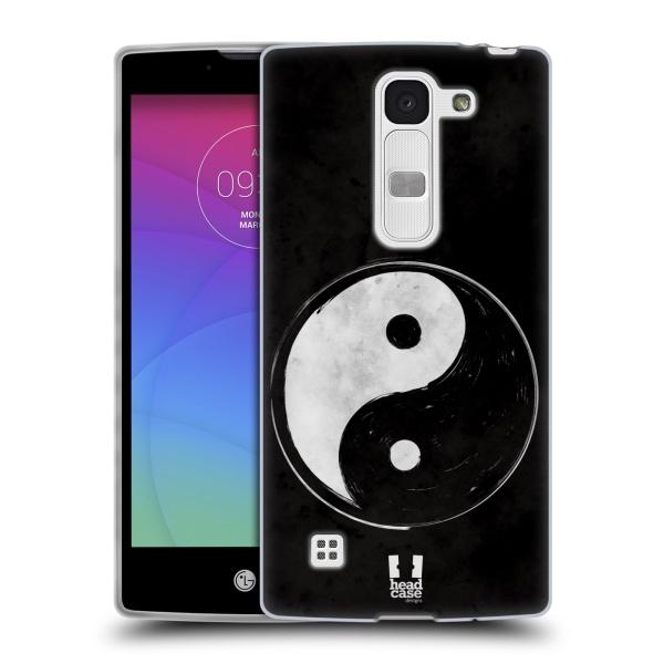 Silikonové pouzdro na mobil LG Spirit LTE HEAD CASE YIn a Yang BW (Silikonový kryt či obal na mobilní telefon LG Spirit H420 a LG Spirit LTE H440N)