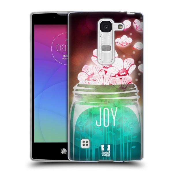 Silikonové pouzdro na mobil LG Spirit LTE HEAD CASE SKLENICE JOY (Silikonový kryt či obal na mobilní telefon LG Spirit H420 a LG Spirit LTE H440N)