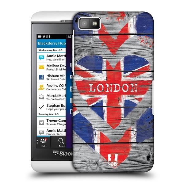 Plastové pouzdro na mobil Blackberry Z10 HEAD CASE LOVE LONDON (Kryt či obal na mobilní telefon Blackberry Z10)