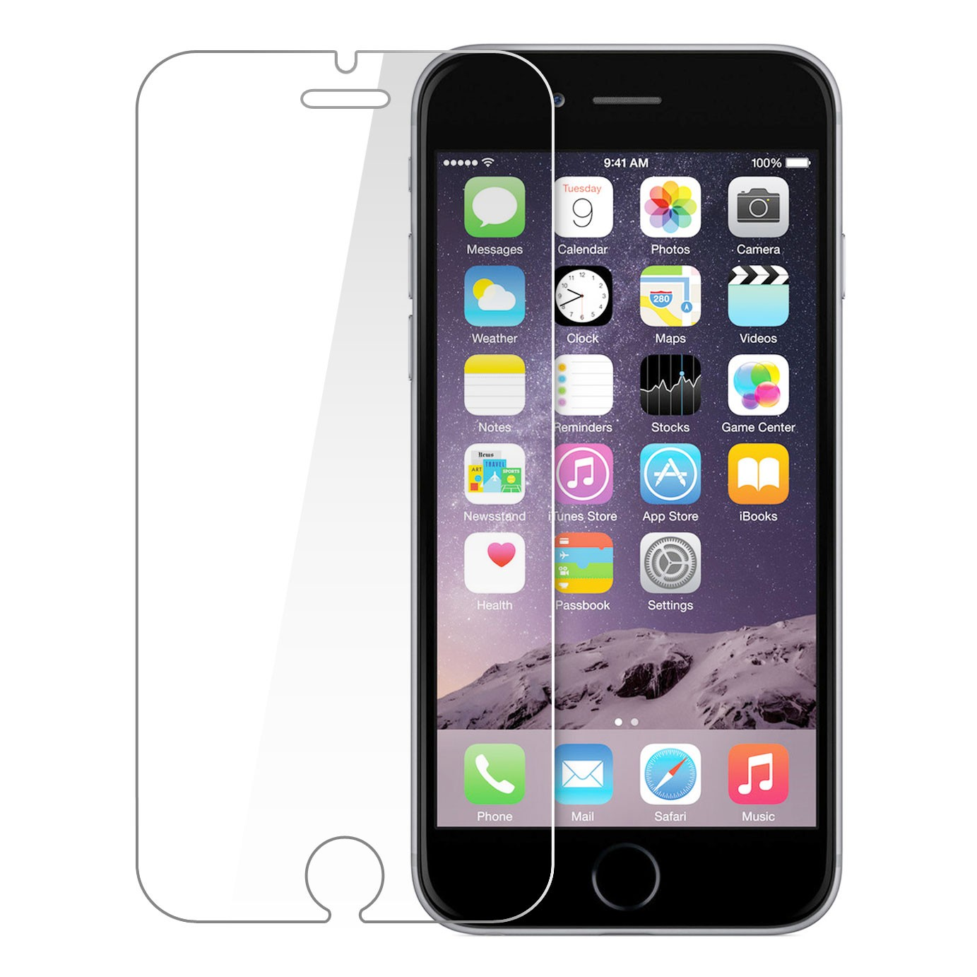 Ochranné tvrzené temperované sklo pro Apple iPhone 6