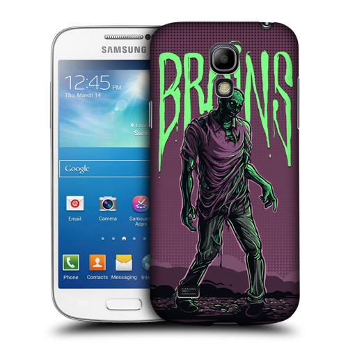 Pouzdro na mobil Samsung Galaxy S4 Mini VE HEAD CASE ZOMBÍK HLEDÁ MOZKY (Kryt či obal na mobilní telefon Samsung Galaxy S4 Mini VE GT-i9195i)