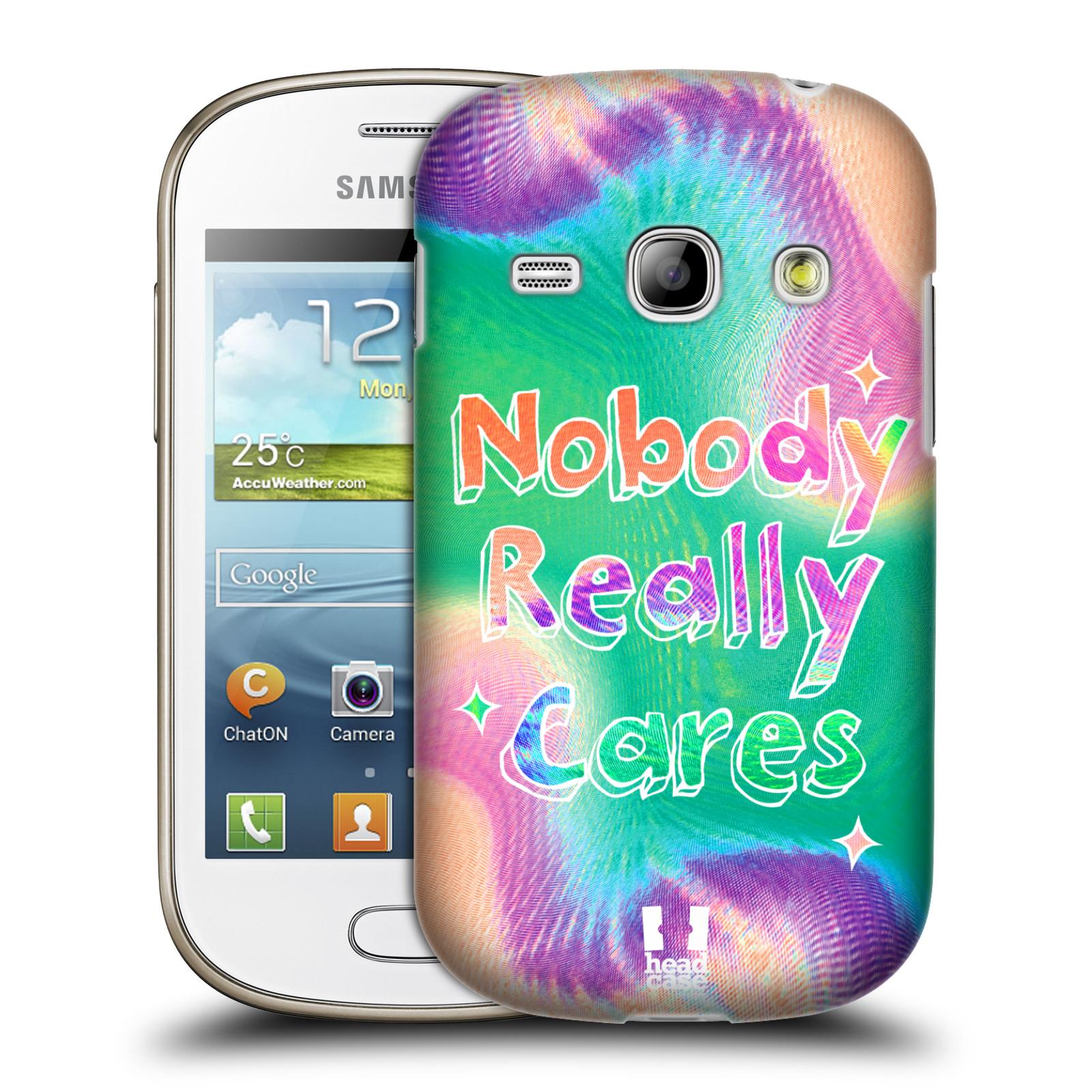 Silikonové pouzdro na mobil Samsung Galaxy Young HEAD CASE HOLOGRAF NOBODY CARES (Silikonový kryt či obal na mobilní telefon Samsung Galaxy Young GT-S6310)