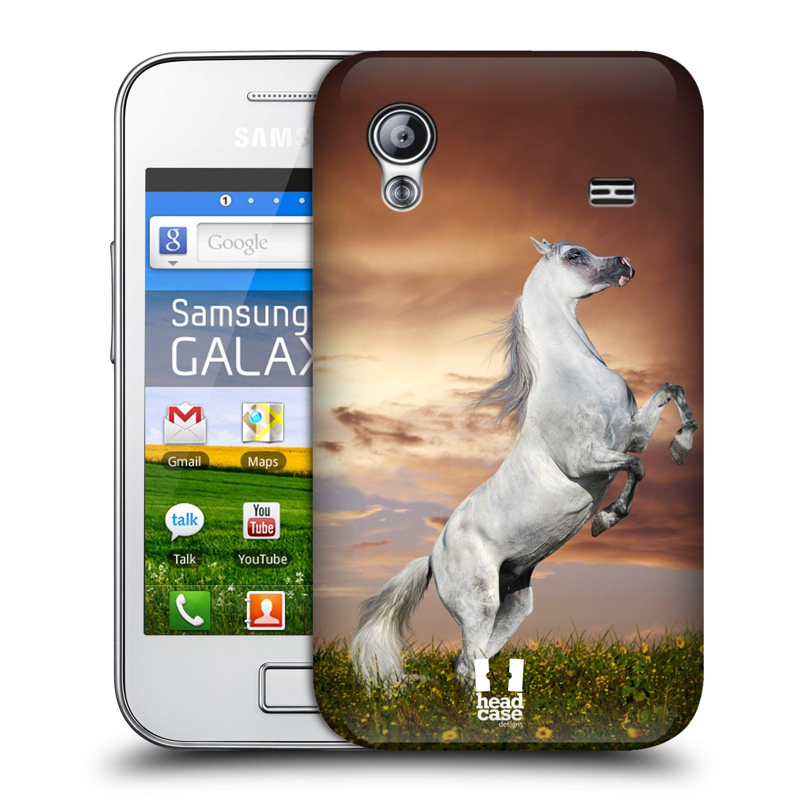 Plastové pouzdro na mobil Samsung Galaxy Ace HEAD CASE DIVOČINA KŮŇ (Kryt či obal na mobilní telefon Samsung Galaxy Ace GT-S5830 / GT-S5830i / GT-S5839i)