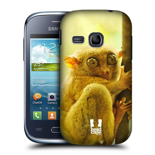 Plastové pouzdro na mobil Samsung Galaxy Young HEAD CASE VYKULENÝ NÁRTOUN (Kryt či obal na mobilní telefon Samsung Galaxy Young GT-S6310)