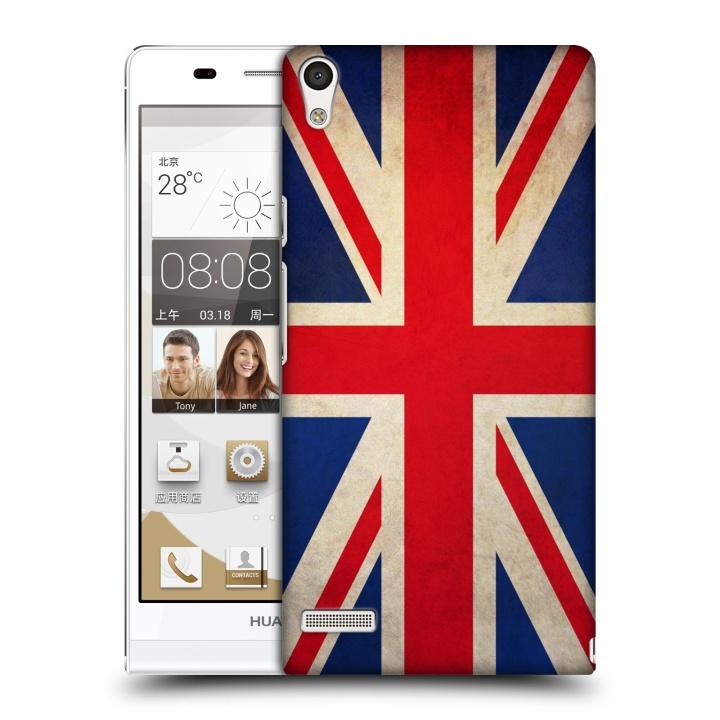 Plastové pouzdro na mobil Huawei Ascend P6 HEAD CASE VLAJKA VELKÁ BRITÁNIE (Kryt či obal na mobilní telefon Huawei Ascend P6)