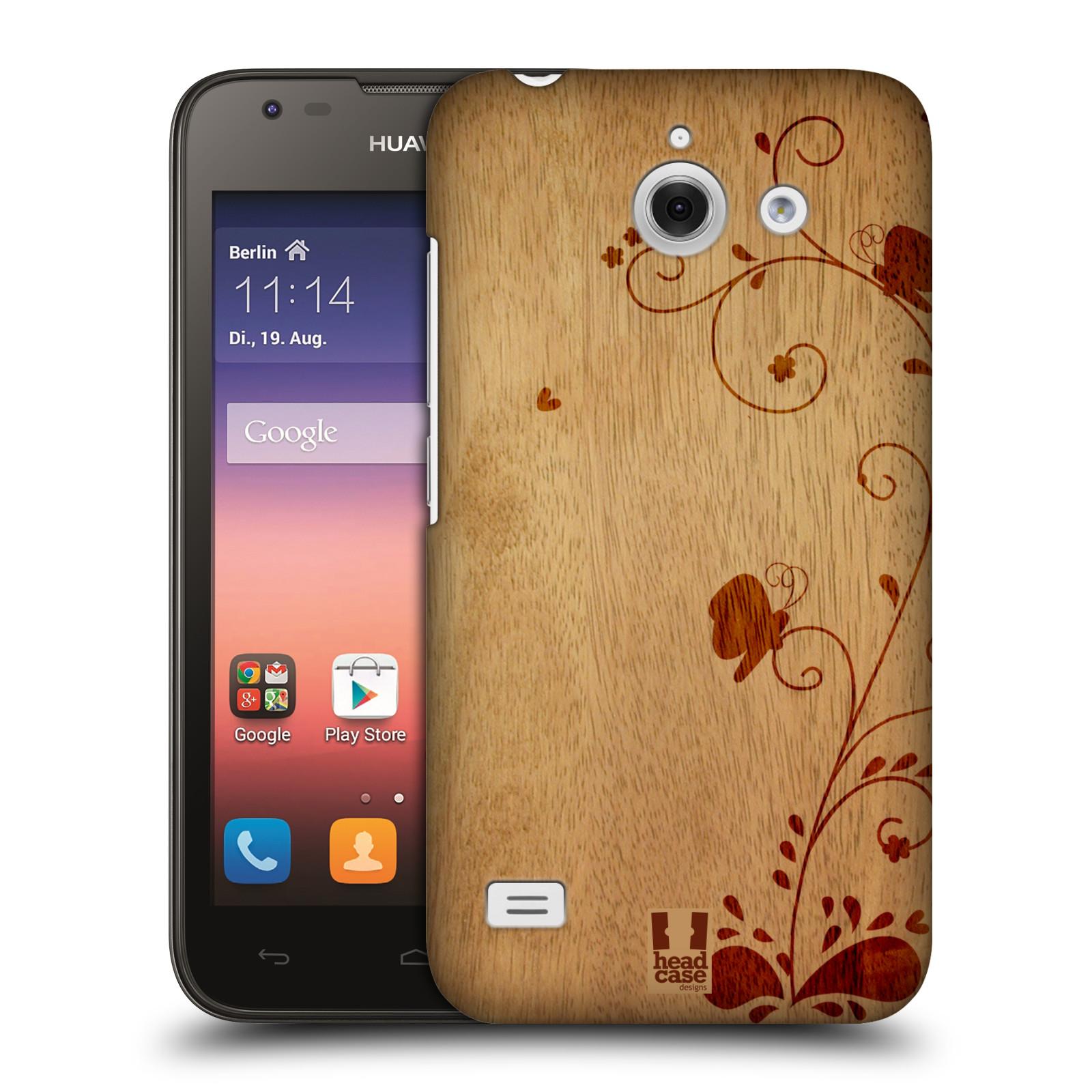 Plastové pouzdro na mobil Huawei Ascend Y550 HEAD CASE WOODART SWIRL (Kryt či obal na mobilní telefon Huawei Ascend Y550)