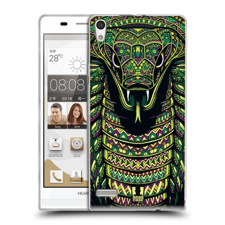 Silikonové pouzdro na mobil Huawei Ascend P6 HEAD CASE AZTEC HAD (Silikonový kryt či obal na mobilní telefon Huawei Ascend P6)