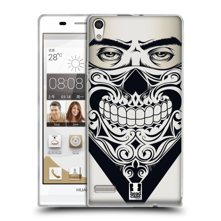 Silikonové pouzdro na mobil Huawei Ascend P6 HEAD CASE LEBKA BANDANA (Silikonový kryt či obal na mobilní telefon Huawei Ascend P6)