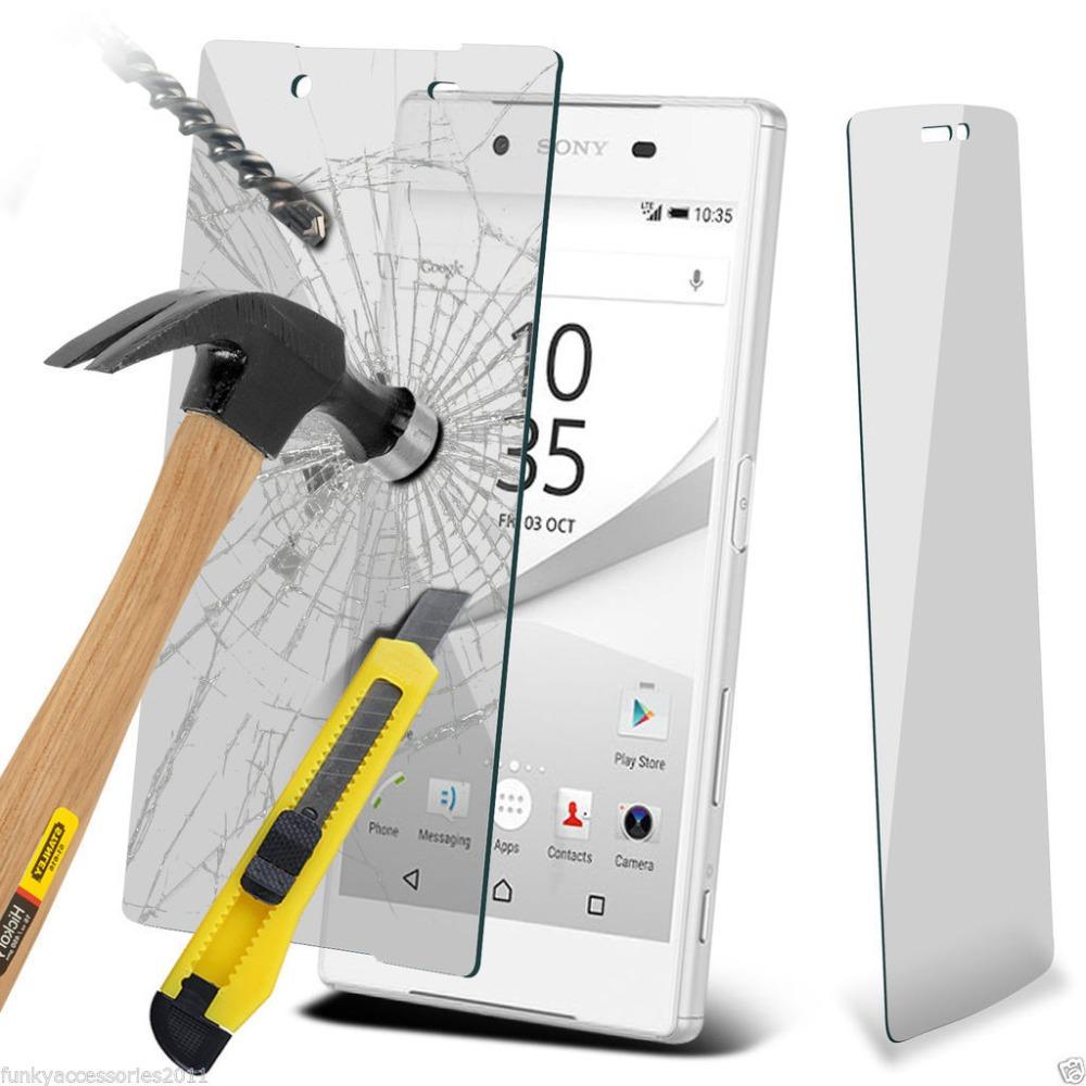 Ochranné tvrzené temperované sklo pro Sony Xperia Z5 Compact E5823 - přední část (Tvrzenné ochranné sklo na displej Sony Xperia Z5 Compact)