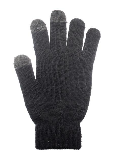 Rukavice na dotykový displej mobilního telefonu a tabletu Černé Dámské (Dámské rukavice v černé barvě na kapacitní displeje)