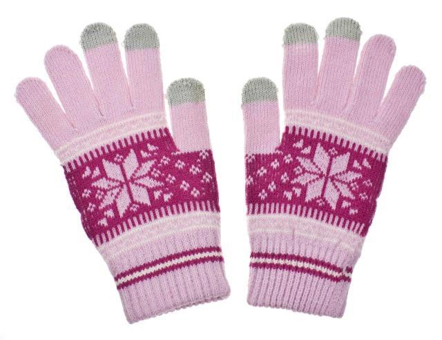 Rukavice na dotykový displej mobilního telefonu a tabletu Nordic Pink Dámské (Dámské rukavice v růžové barvě na kapacitní displeje)