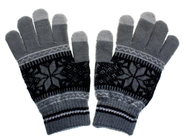 Rukavice na dotykový displej mobilního telefonu a tabletu Nordic Grey Pánské (Pánské rukavice v šedé barvě na kapacitní displeje)