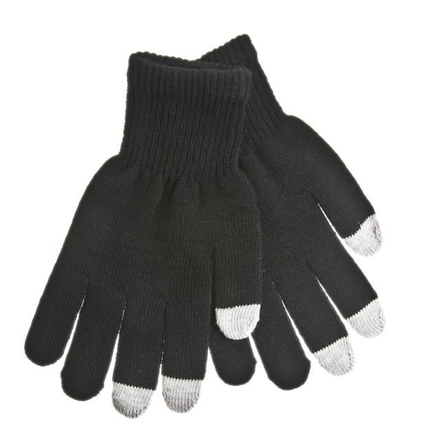 Rukavice na dotykový displej mobilního telefonu a tabletu Černé Pánské (Pánské rukavice v černé barvě na kapacitní displeje)