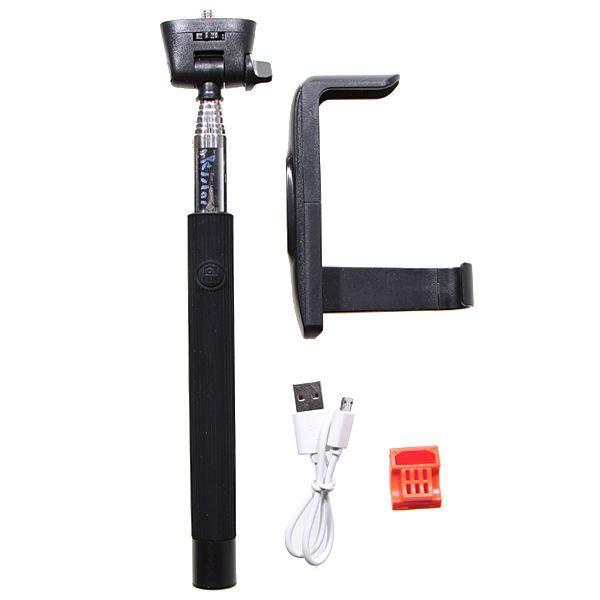 Selfie tyč s Bluetooth ovladáním Monopod Z07-5 pro mobilní telefony černá (Bluetooth selfie tyč s držákem pro mobilní telefony a fotoaparáty)