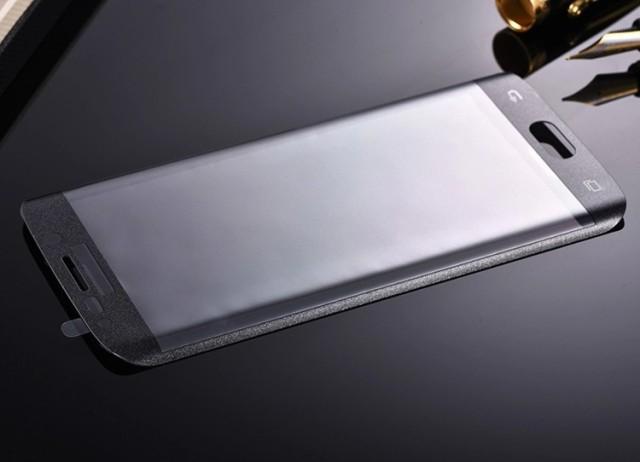 OCHRANNÉ TEMPEROVANÉ TVRZENÉ SKLO pro SAMSUNG GALAXY S6 Edge G925F zahnuté černé (Tvrzenné ochranné sklo Samsung Galaxy S6 Edge s krytím zahnutých stran)