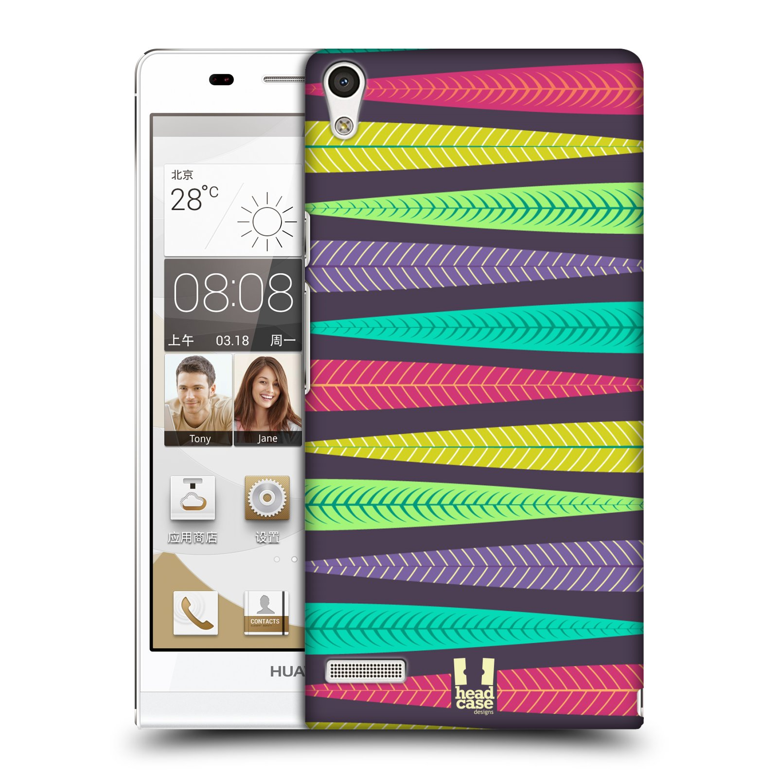 Plastové pouzdro na mobil Huawei Ascend P6 HEAD CASE LISTKY BRIGHT (Kryt či obal na mobilní telefon Huawei Ascend P6)