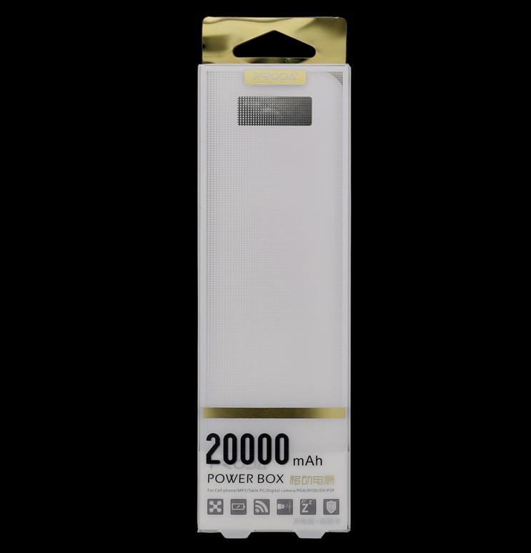 Power banka Remax Proda PowerBank 20000mAh Li-Pol bílá (Externí záložní baterie - powerbanka Remax Proda)
