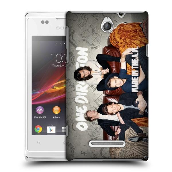 Plastové pouzdro na mobil Sony Xperia E C1505 HEAD CASE One Direction - Na Gaučíku (Kryt či obal One Direction Official na mobilní telefon Sony Xperia E a E Dual)