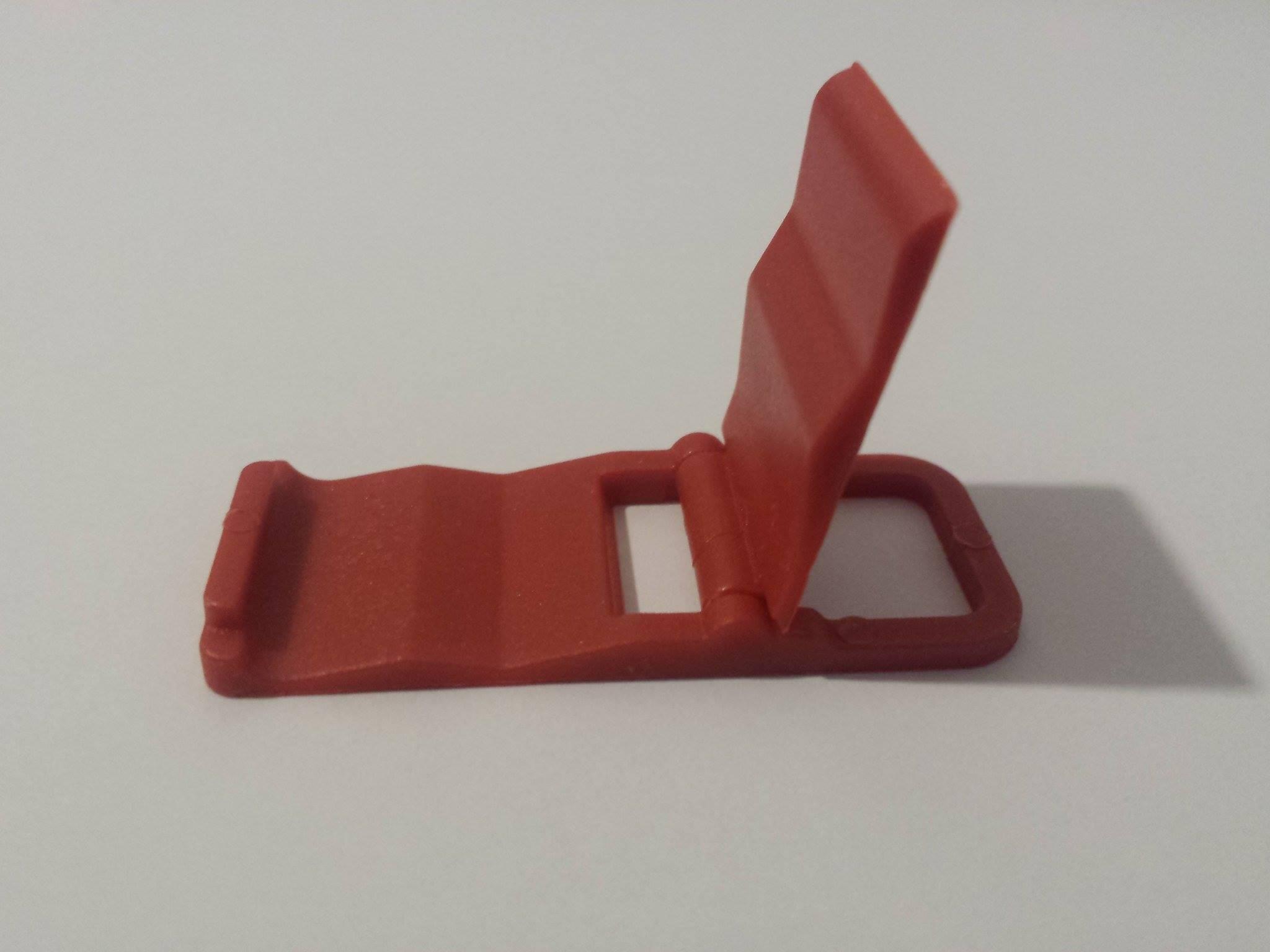 Kompaktní stojánek COOLCASE na mobilní telefon - červený (Barevný stojánek na mobil)