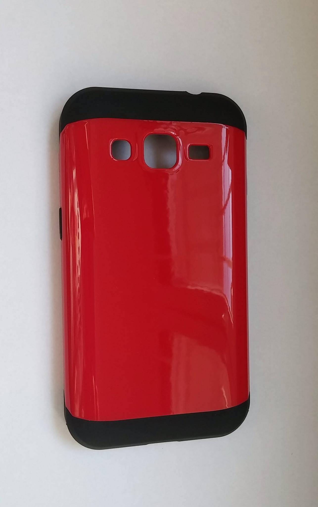 Odolné pouzdro HYBRID CASE na mobilní telefon Samsung Galaxy Grand Prime RED (Odolný kryt či obal na mobil Samsung Galaxy Grand Prime G530 / VE G531)
