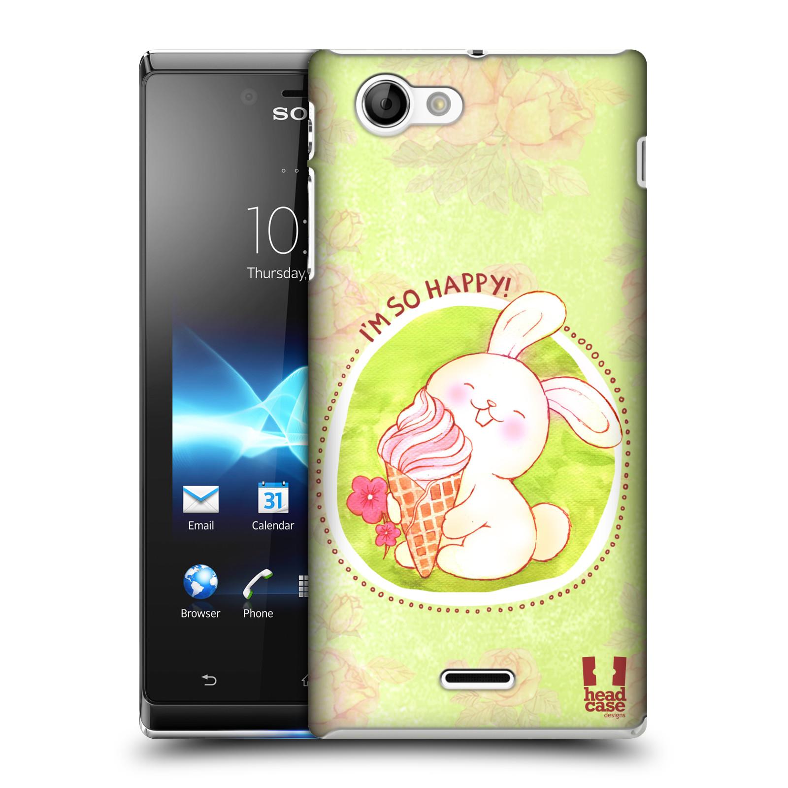 Plastové pouzdro na mobil Sony Xperia J ST26i HEAD CASE KRÁLÍČEK ZMRZKA (Kryt či obal na mobilní telefon Sony Xperia J )