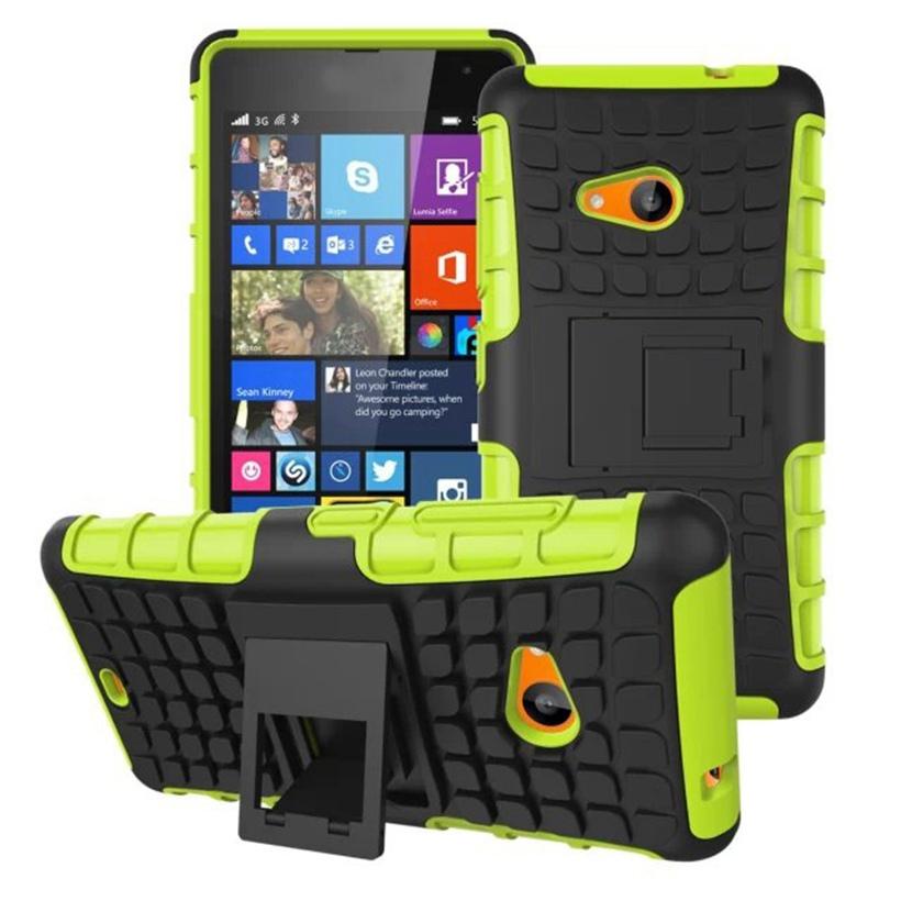 Odolné pouzdro PANZER CASE na mobilní telefon Microsoft Lumia 535 ZELENÉ (Odolný kryt či obal na mobil Microsoft Lumia 535 se stojánkem)